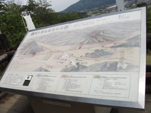 関ヶ原合戦陣形図の看板